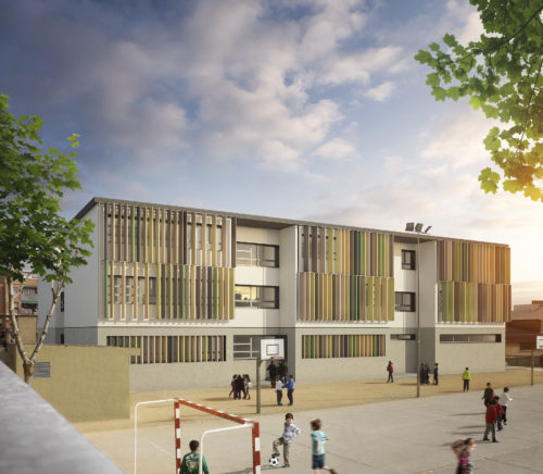 "Deep renovation of ""El Garrofer"" school in Viladecans to meet nZEB standard"