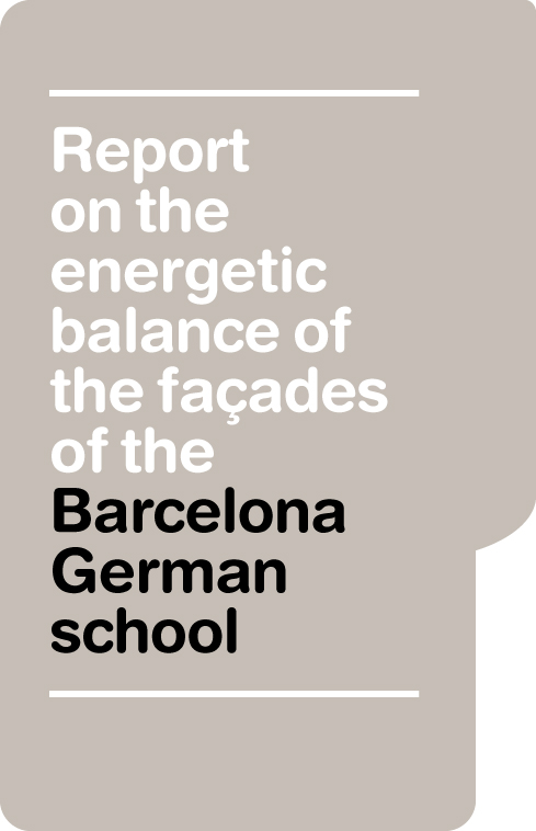 Report on the energetic balance of the façades of the Barcelona German school
