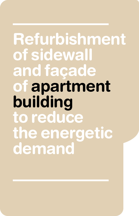 Renovation to improve the energetic performance of side walk and façade of a residencial building in Barcelona