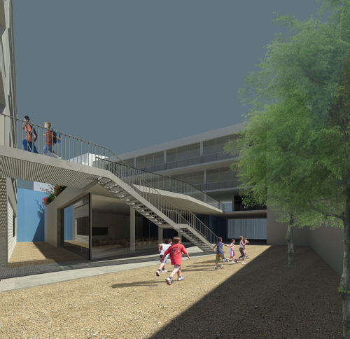 Private contest for renovation and extension of Escola Pia de Sitges